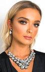 Yana Crystal Flower Necklace Set Thumbnail