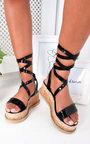 Yana Faux Snake Skin Flatform Sandal Thumbnail