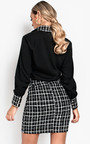 Yana Long-Lined Tweed Skirt  Thumbnail