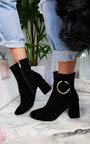 Yana Ring Block Heel Ankle Boots Thumbnail