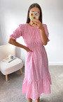 Yanni Ruffle Midi Dress Thumbnail