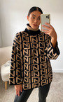 Yazzi Printed Knitted Jumper Thumbnail