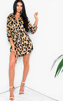 Yazzie Long-lined Leopard Shirt Dress Thumbnail