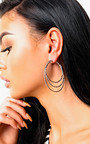 Yolanda Silver Multiple Hoop Earrings  Thumbnail