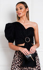 Zahra One Shoulder Crop Top Thumbnail