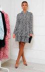 Zama Pleated Shift Dress Thumbnail