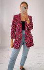 Zara Printed Blazer Jacket Thumbnail