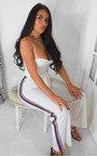 Zara Rainbow Stripe Wide Leg Jumpsuit Thumbnail
