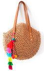 Zaraa Straw Circle Handbag Thumbnail