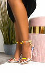 Zarah Iridescent Perspex Block Heels Thumbnail