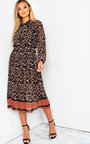 Zarah Printed Midi Dress Thumbnail