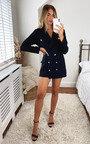 Zaza Blazer Dress with Button Detail Thumbnail