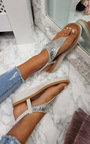 Zeena Diamante Embellished T-Bar Sandals Thumbnail