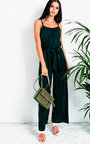 Zeena Pleated Tie Waist  Jumpsuit Thumbnail