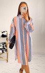 Zelda Striped Midi Shirt Dress Thumbnail