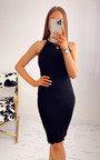 Zellie Scalloped Hem Mini Dress Thumbnail