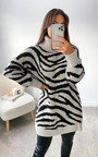 ZiZi High Neck Printed Jumper Dress Thumbnail