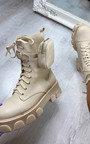 Zizi Lace Up Pouch Biker Boots Thumbnail