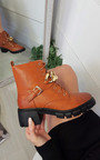 Zoe Chain Detail Chunky Boots Thumbnail