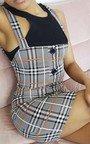 Zoe Checked Pinafore Mini Dress Thumbnail