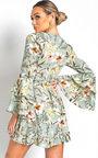 Zoey Floral Tie Wrap Dress  Thumbnail