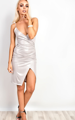 View the Luciana Gathered Bodycon Dress  online at iKrush