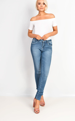 View the Selena Skinny Ripped Jeans online at iKrush