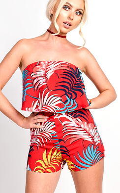 View the Hayley Bandeau Playsuit online at iKrush