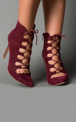 View the Pierra Lace-Up High Heels online at iKrush