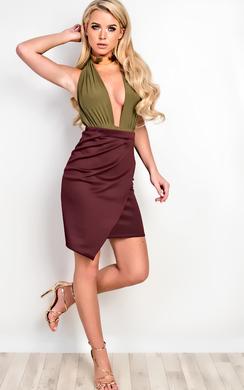 View the Annamaria Asymmetric Skirt  online at iKrush