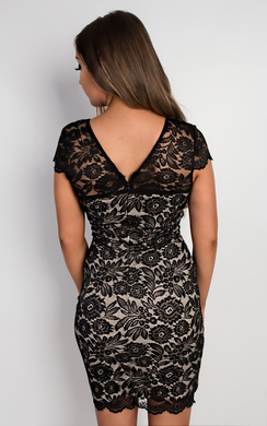 View the Aminta Lace Bodycon Dress online at iKrush