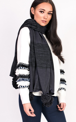 View the Krissy Pom Pom Scarf online at iKrush