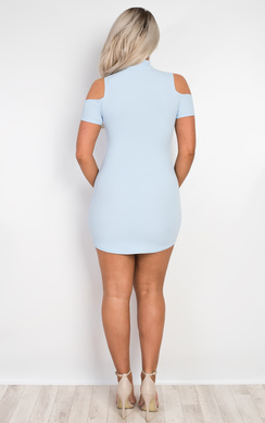 View the Ilene Choker Neck Mini Dress online at iKrush