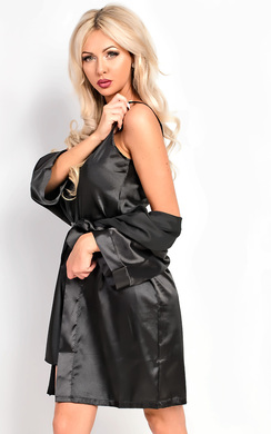 View the Briah Satin Dressing Gown Cami Set online at iKrush