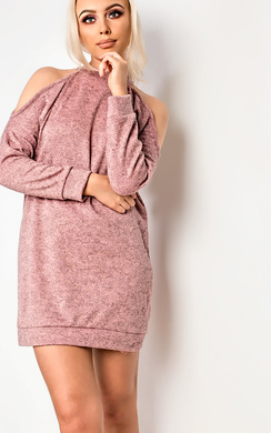 View the Calan Cold Shoulder Jumper Dress online at iKrush