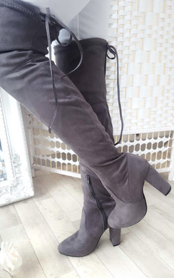 View the Dusty Faux Suede Knee High Boots  online at iKrush