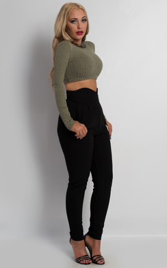 View the Sienna Ribbed Crop Top online at iKrush