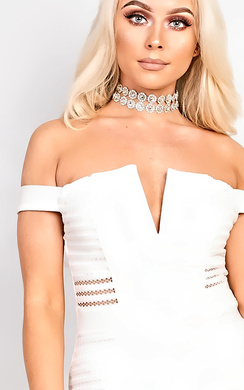 View the Liyah Diamante Effect Choker online at iKrush