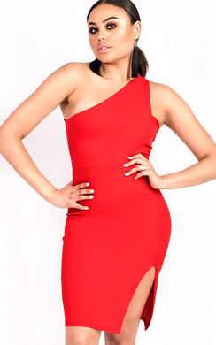 View the Kirah One Shoulder Bodycon Dress online at iKrush