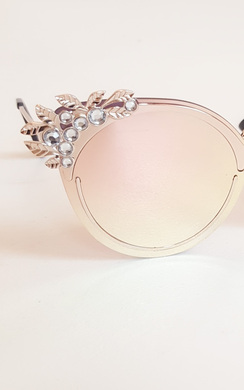 View the Rayla Embellished Rose Gold Detail Sunglasses online at iKrush