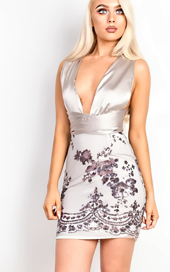 View the Clarice Sequin Bodycon Dress online at iKrush