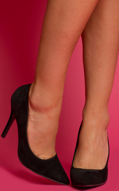 View the Lue Suede Stiletto Heels online at iKrush