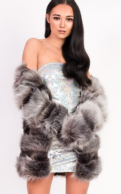 View the Leyla Faux Fur Jacket online at iKrush