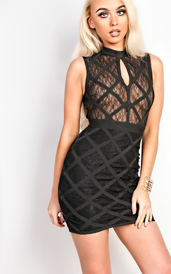 View the Arisha Bandage Bodycon Dress online at iKrush