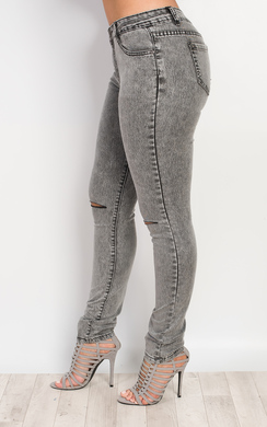 View the Raya Ripped Knee Skinny Jeans online at iKrush