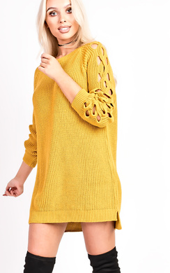 View the Skye Knitted Cut Out Jumper online at iKrush
