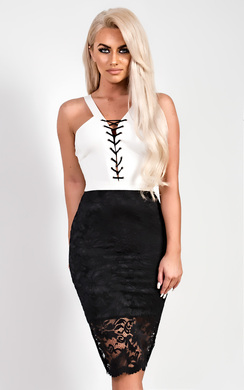 View the Lucy Lace Midi Dress online at iKrush