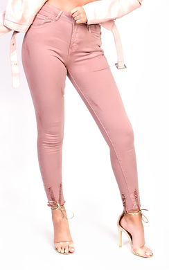 View the Carly Skinny Distressed Jeans online at iKrush