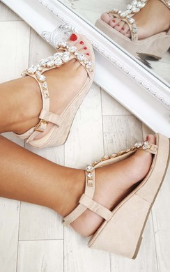 View the Florina Embellished Wedges online at iKrush