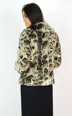View the Danika Leopard Faux Fur Jacket online at iKrush